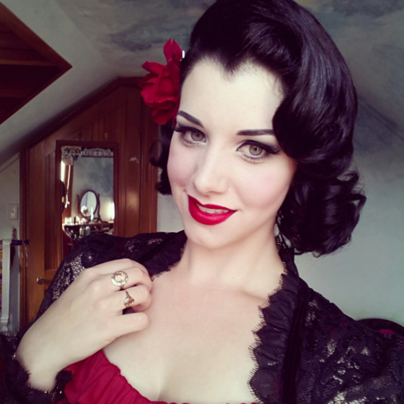 Hairstyles For Short Hair Pin Ups : My Week In Outfits! (14/01-19/01) miss victory violet